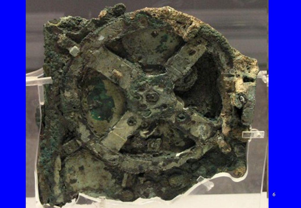 6 Bryłki brązu na wraku Rok 1900 – odkrycie wraku starożytnego statku handlowego niedaleko wyspy Antykitera (Grecja) –Grecka wyspa na Morzu Egejskim,