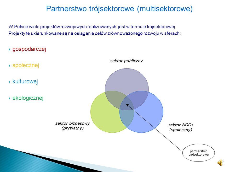 Partnerstwo prywatno-społeczne – dotyczy współpracy na linii przedsiębiorstwa prywatne – organizacje pozarządowe, – podejmowane w ramach projektów spo