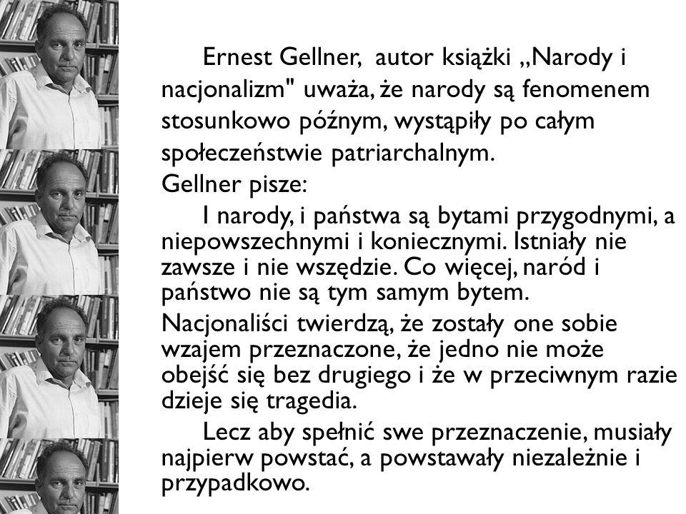 Ernest Gellner, autor książki Narody i nacjonalizm