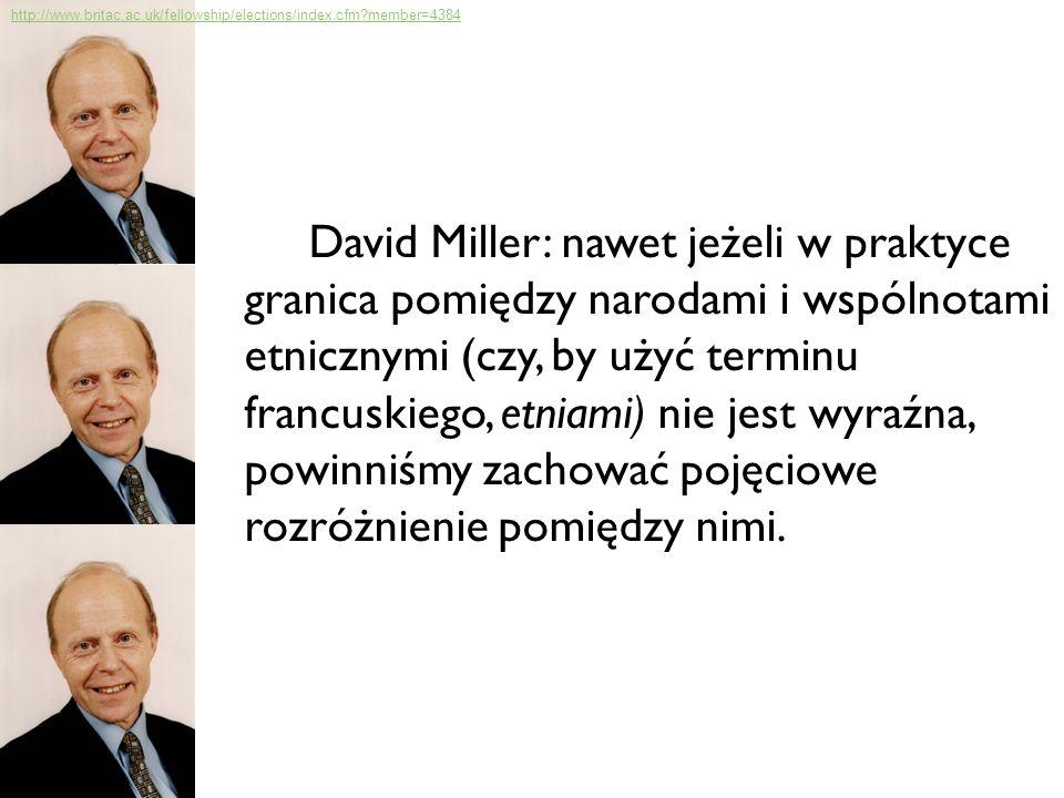 Definicja narodowości wg Millera: wspólnota 1.