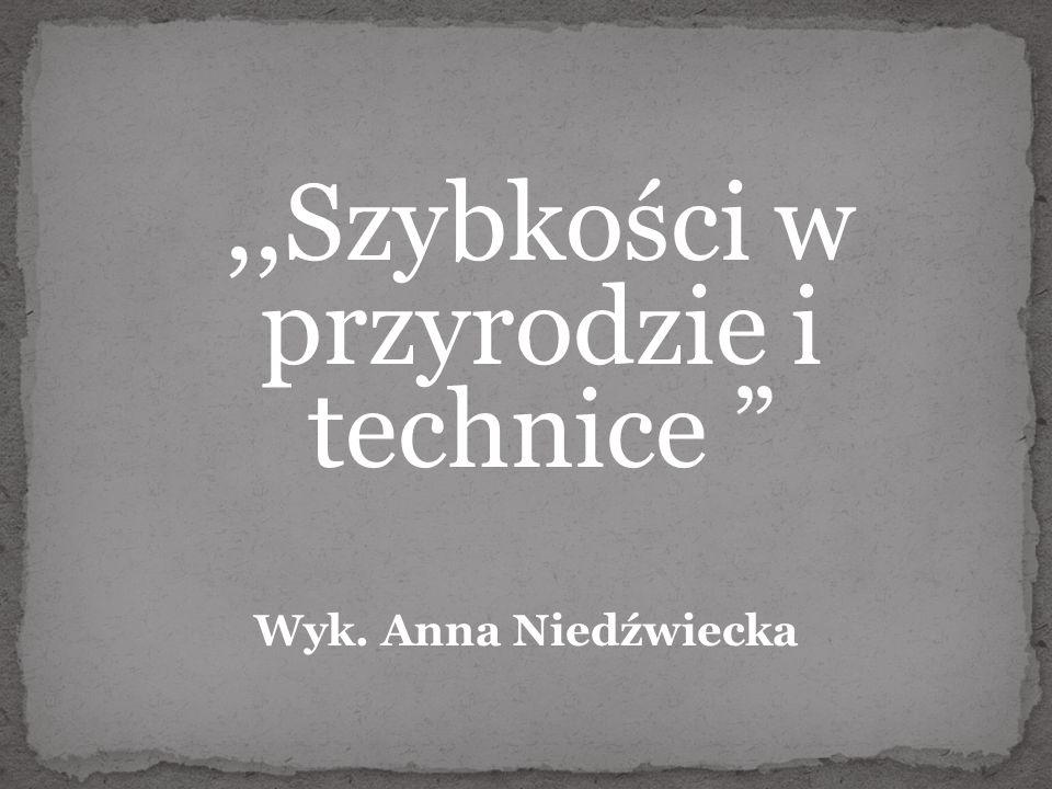 ,,Szybkości w przyrodzie i technice Wyk. Anna Niedźwiecka