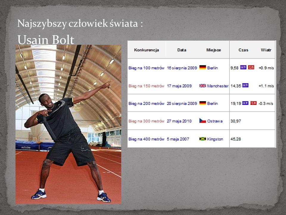 Najszybszy człowiek świata : Usain Bolt