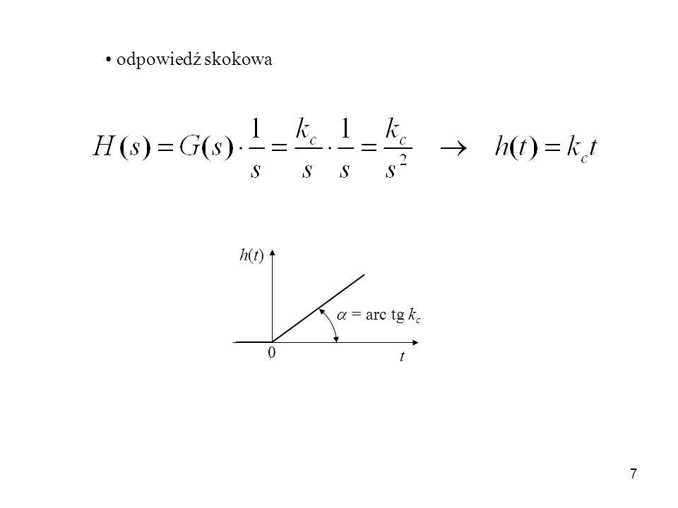 18 odpowiedź skokowa t h 0 T0T0 k