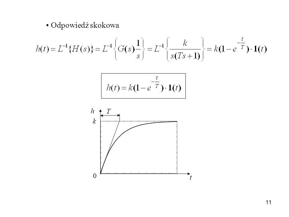 11 Odpowiedź skokowa t k T h 0