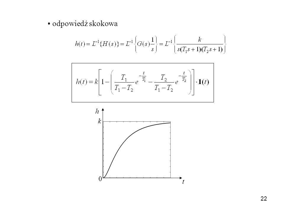 22 odpowiedź skokowa t h k 0
