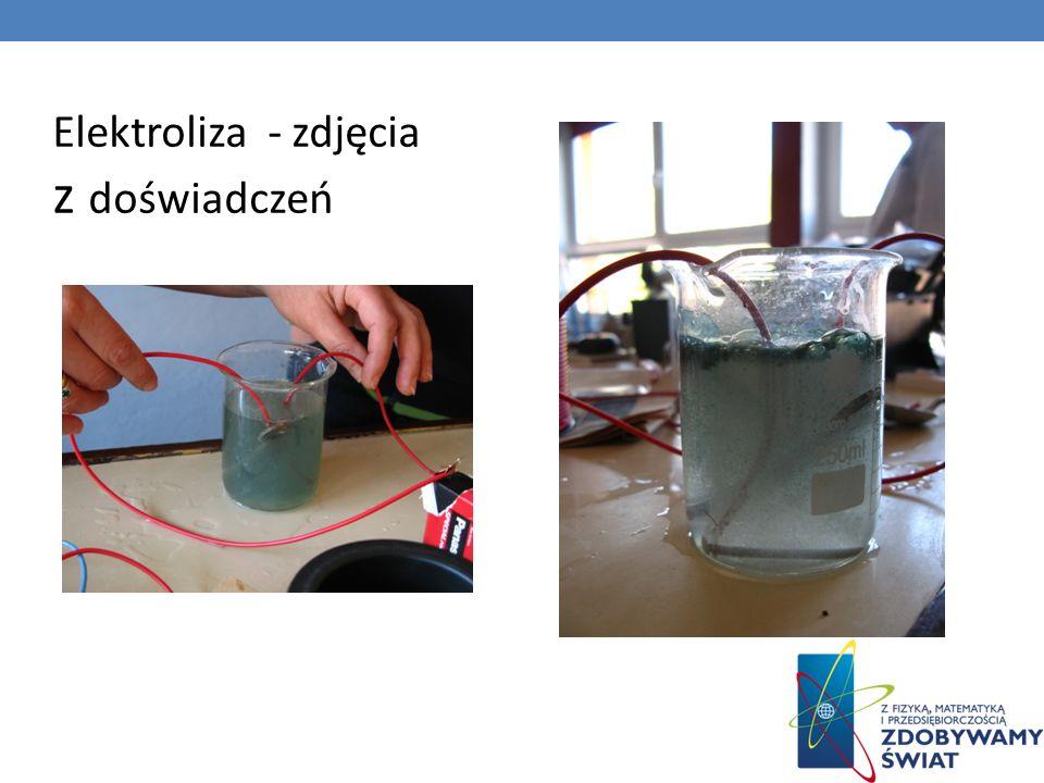 Elektroliza - zdjęcia z doświadczeń
