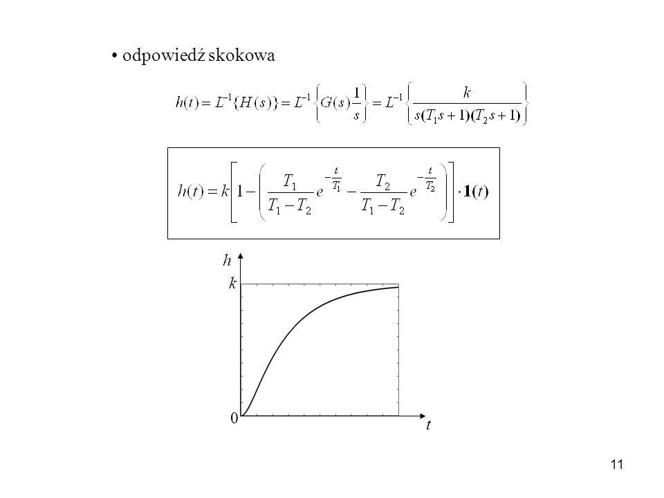 11 odpowiedź skokowa t h k 0