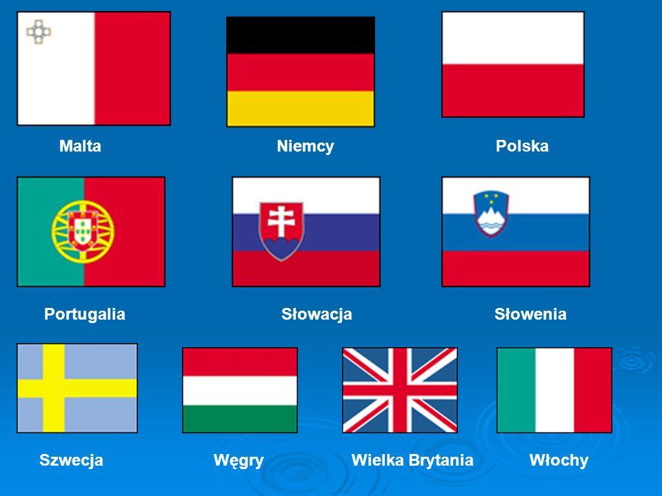 Malta Niemcy Polska Portugalia Słowacja Słowenia Szwecja Węgry Wielka Brytania Włochy