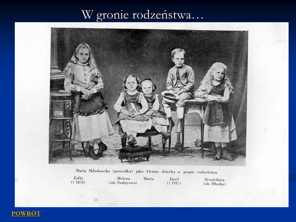 Maria Skłodowska z rodziną POWRÓT