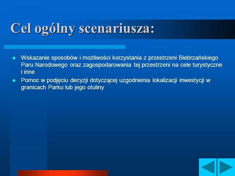 Cel ogólny scenariusza: Wskazanie sposobów i możliwości korzystania z przestrzeni Biebrzańskiego Paru Narodowego oraz zagospodarowania tej przestrzeni