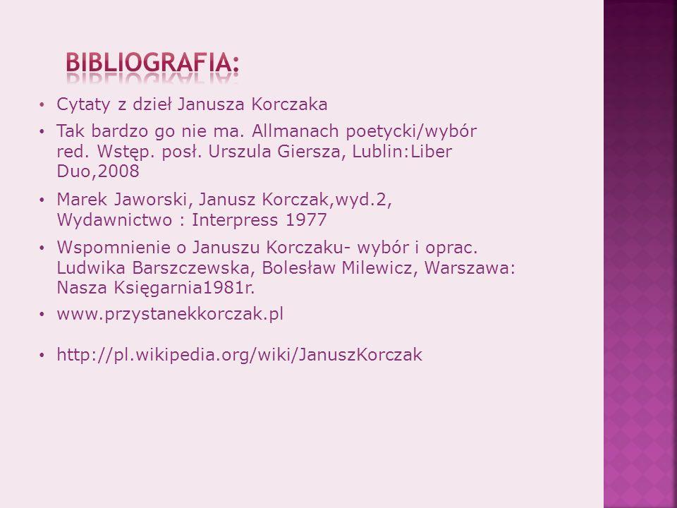 Wspomnienie o Januszu Korczaku- wybór i oprac.