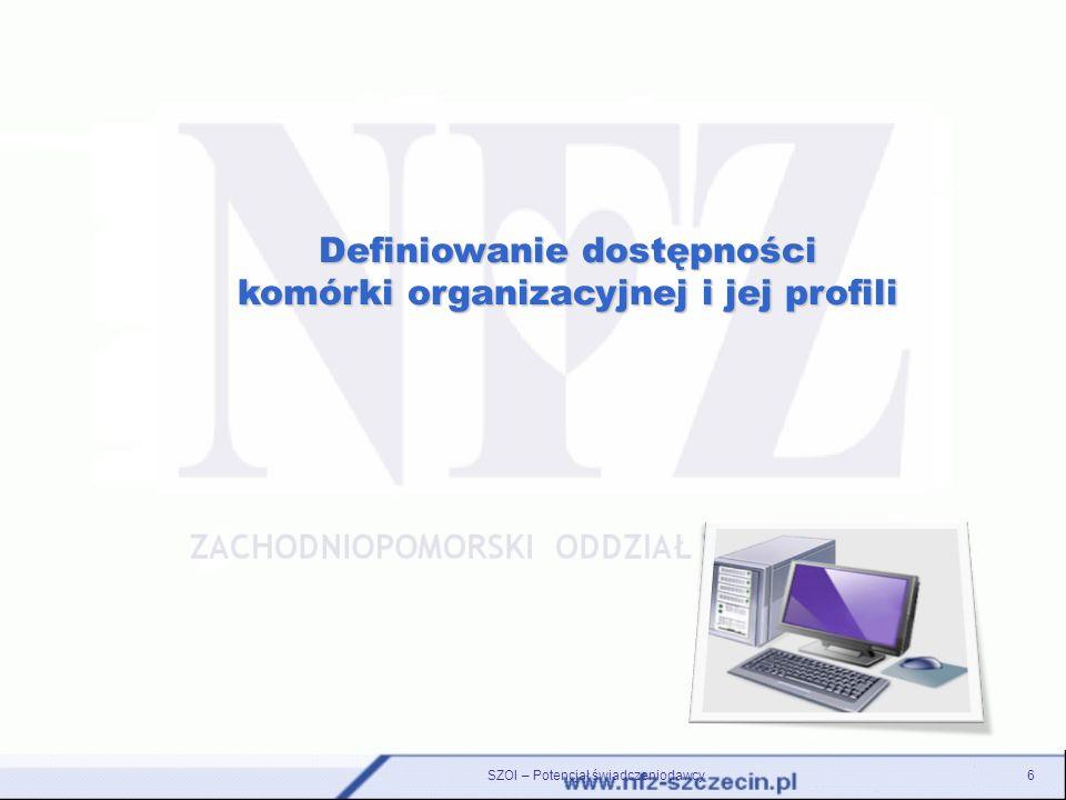 6 Definiowanie dostępności komórki organizacyjnej i jej profili
