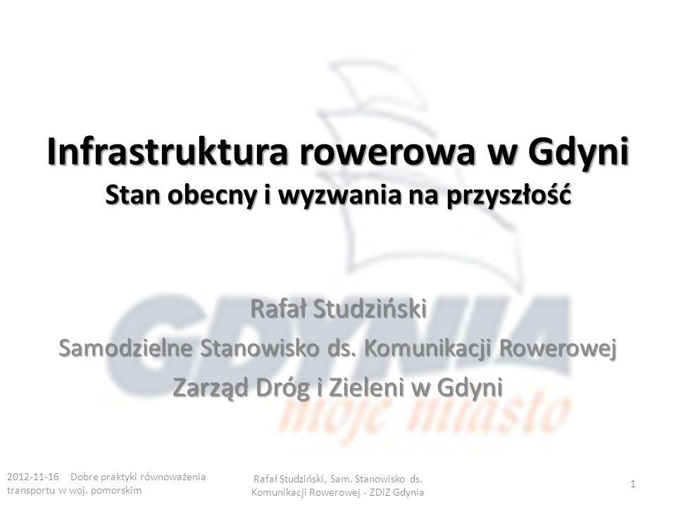 Infrastruktura rowerowa w Gdyni Stan obecny i wyzwania na przyszłość Rafał Studziński Samodzielne Stanowisko ds.