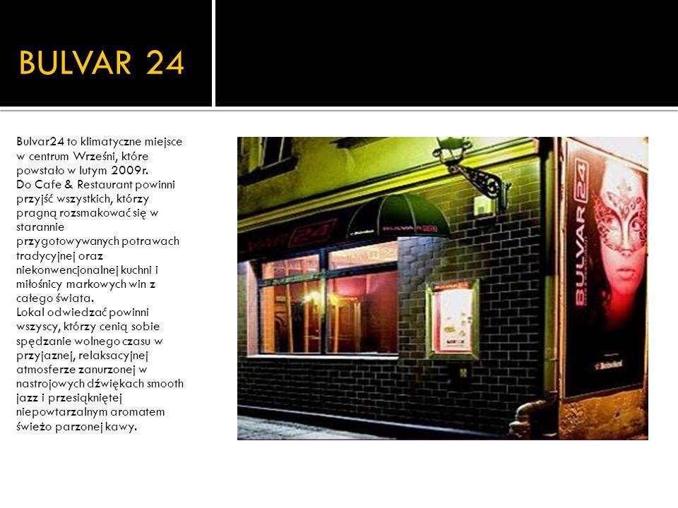 Restauracja o klimatycznym i stylowym wnętrzu.W swojej ofercie posiada m.in.