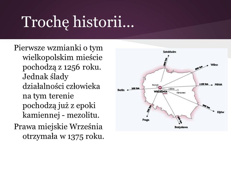 Trochę historii... Pierwsze wzmianki o tym wielkopolskim mieście pochodzą z 1256 roku. Jednak ślady działalności człowieka na tym terenie pochodzą już