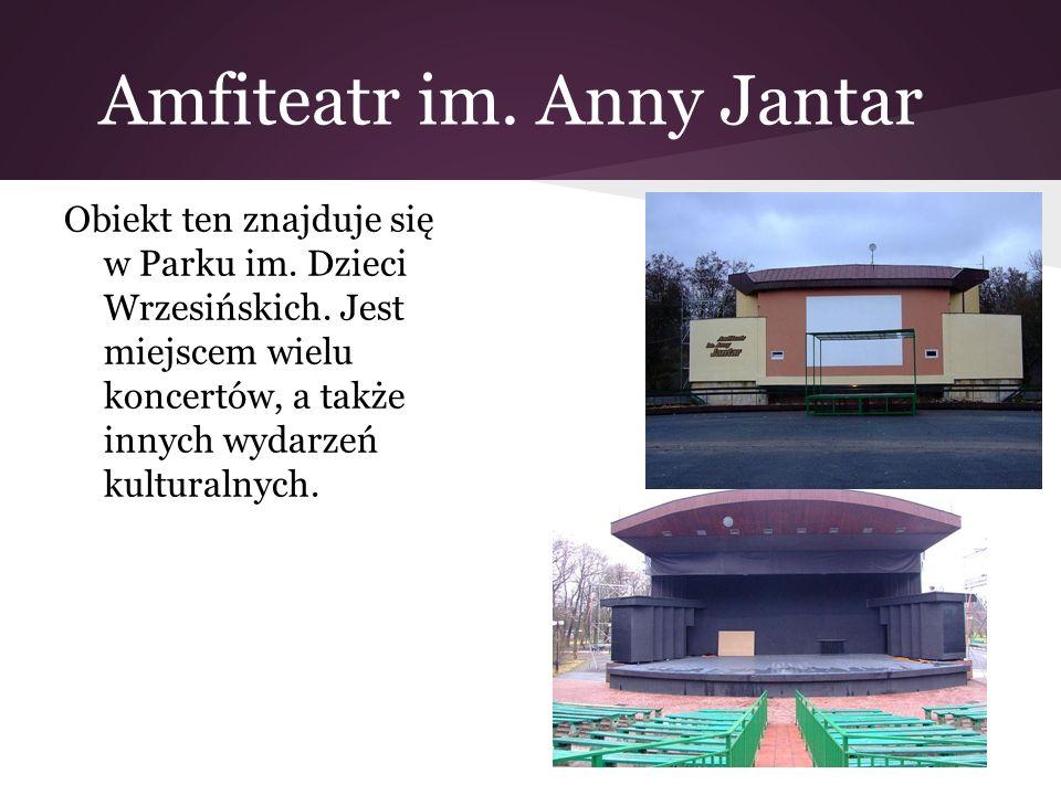 Amfiteatr im. Anny Jantar Obiekt ten znajduje się w Parku im. Dzieci Wrzesińskich. Jest miejscem wielu koncertów, a także innych wydarzeń kulturalnych