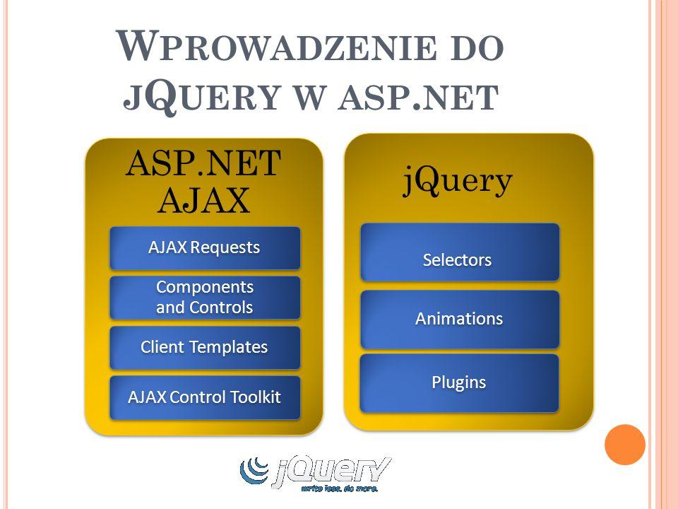 W PROWADZENIE DO J Q UERY W ASP.