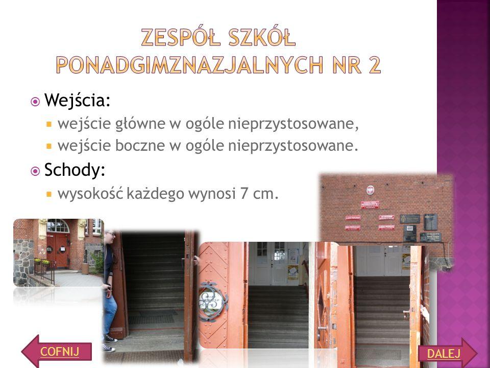Winda (lustro, poręcz, drzwi 92 cm) Toaleta nie posiada uchylnego lustra, drzwi otwierane na zewnątrz, szerokość drzwi 106 cm. Wejście do szatni dla n