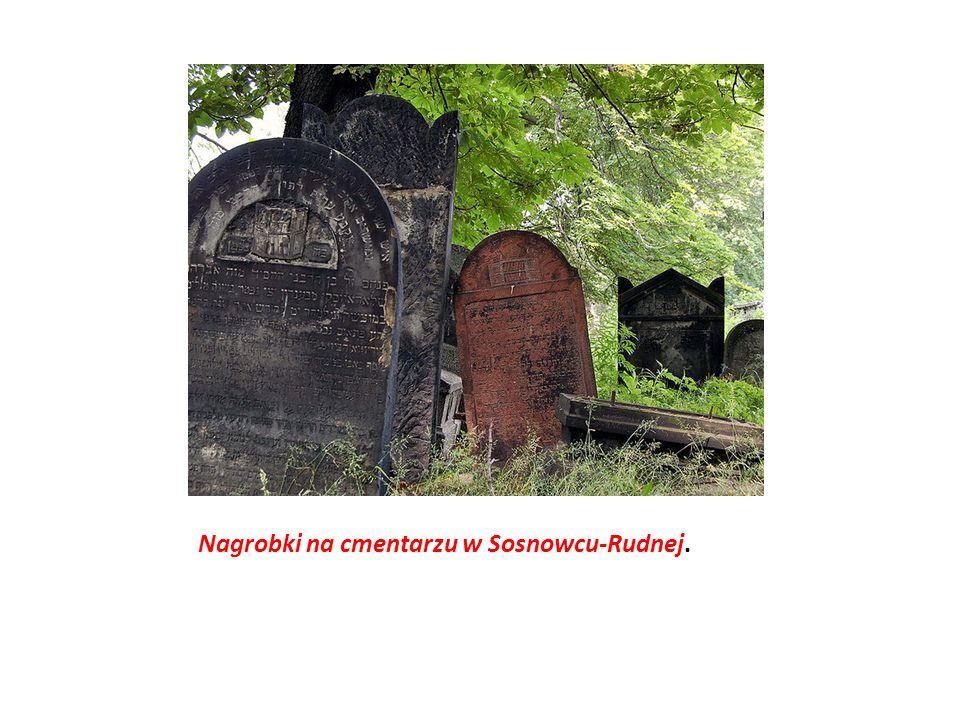 Nagrobki na cmentarzu w Sosnowcu-Rudnej.