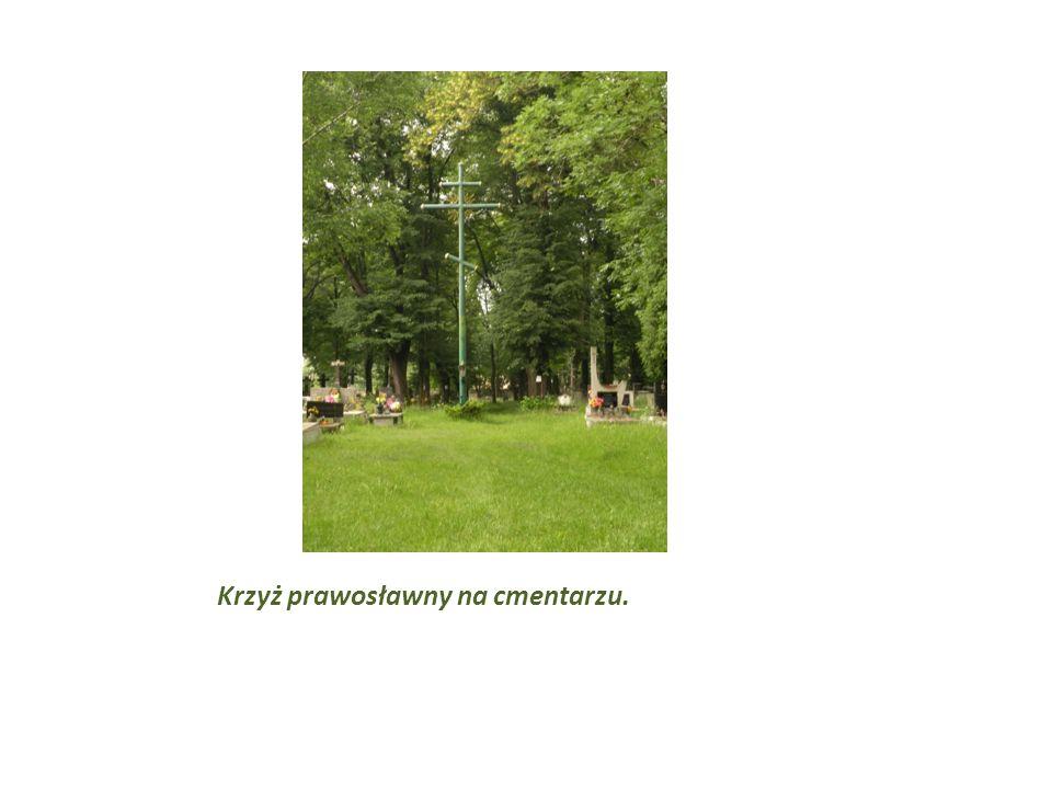 Krzyż prawosławny na cmentarzu.