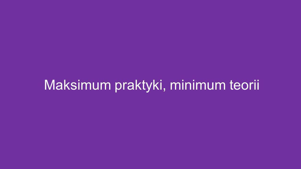 Maksimum praktyki, minimum teorii
