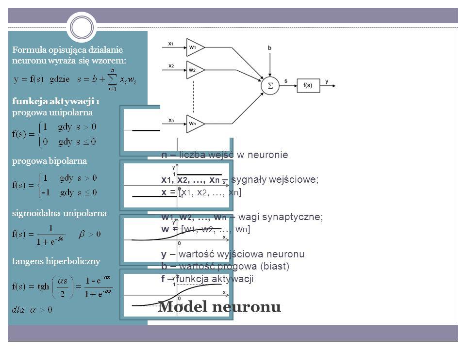 Model McCullocha-Pittsa jest punktem wyjścia do konstrukcji najprostszej jedno-kierunkowej sieci neuronowej o nazwie perceptron.