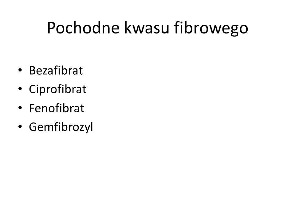 Bezafibrat Ciprofibrat Fenofibrat Gemfibrozyl