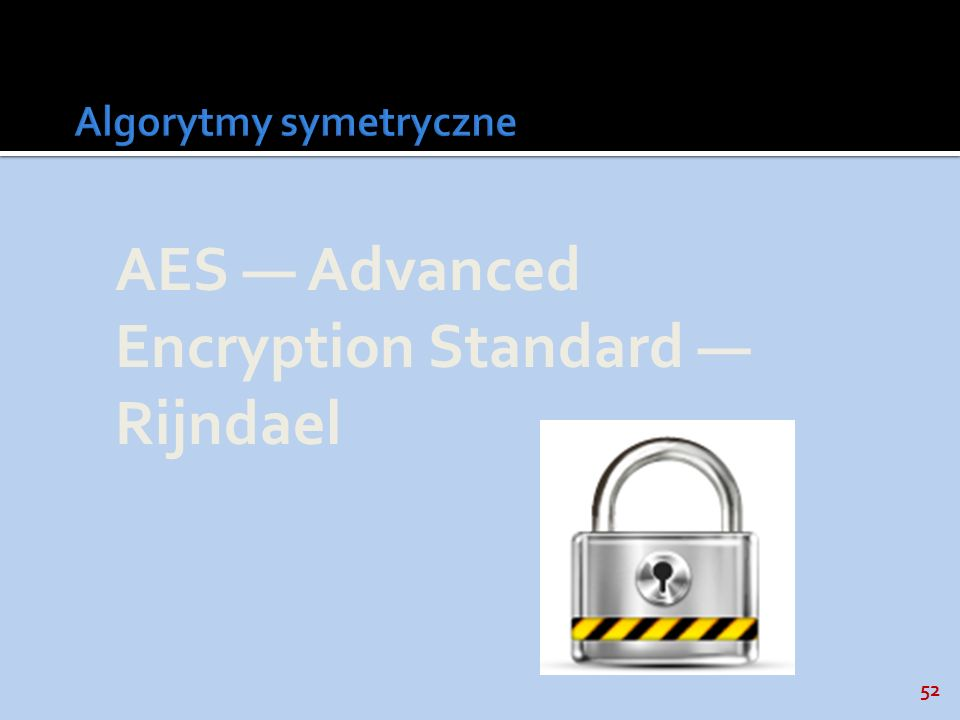 52 AES Advanced Encryption Standard Rijndael