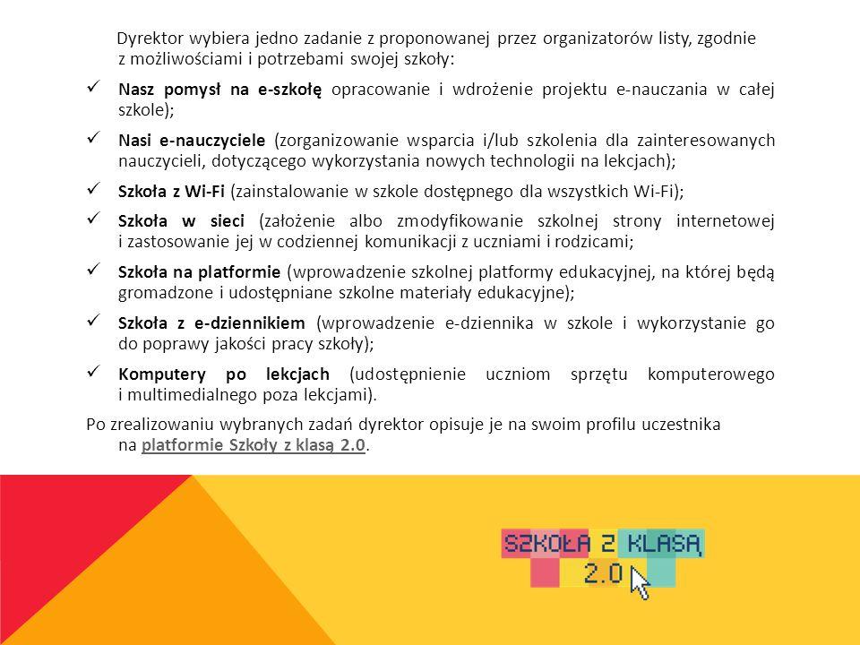 HARMONOGRAM I ZADANIA KOORDYNATORA Spotkanie otwierające – 31.10.2013 r.