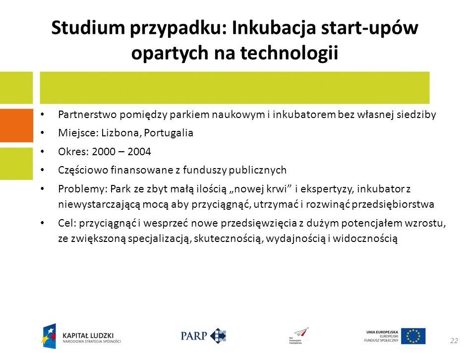 Wskazówki dla innowacji Specjalizacja: Park naukowy Zapewnienie miejsca Widoczność i promocja Przywództwo i odpowiedzialność finansowa Inkubator Wyłącznie miękkie komponenty Wysoko wykwalifikowani pracownicy Badania Rozwój metodologiczny Granice finansowe / budżetowe 23