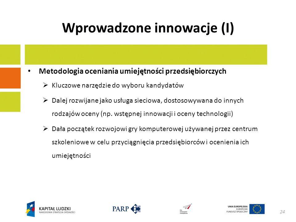 Wprowadzone innowacje (II) Wprowadzenie modułowego wsparcia przy robieniu biznesplanów Dobrze zdefiniowane fazy i moduły Kodyfikacja metod i procesów Definicja kamieni milowych i przewidzianych wyników Wcześniej ustalony średni wkład ekspertów Możliwość rezygnacji przez przedsiębiorców Wynagrodzenie ekspertów połączone z wynikami 25