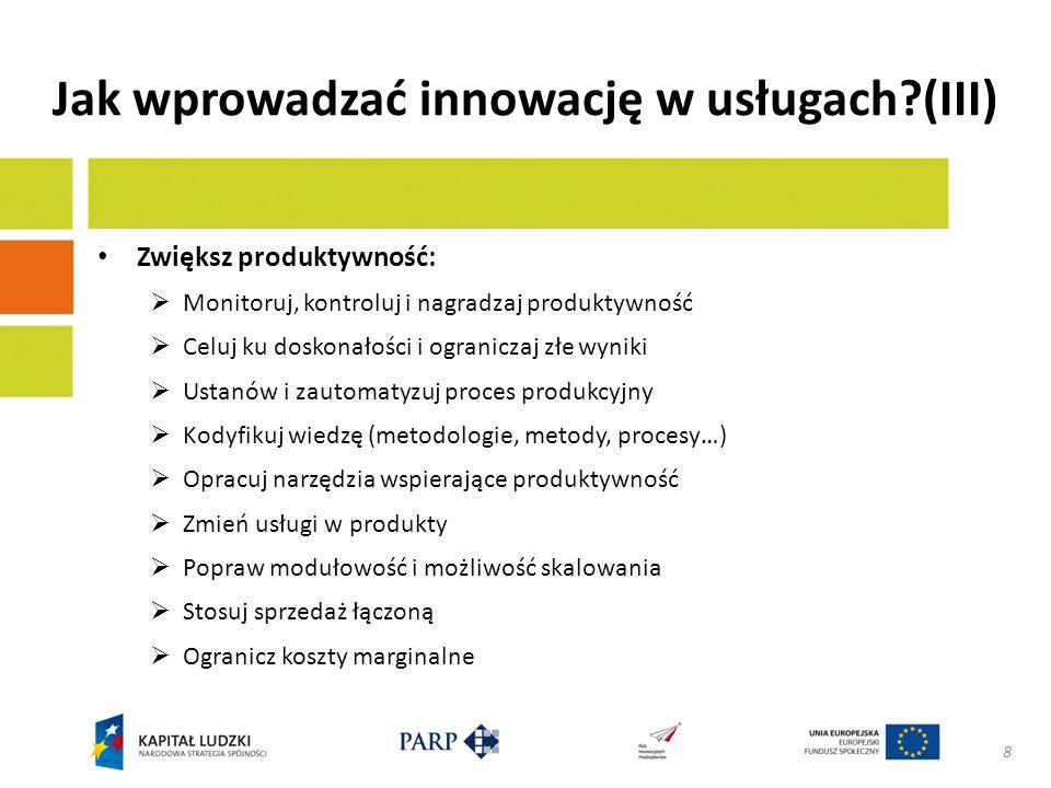 Jak wprowadzać innowację w usługach.