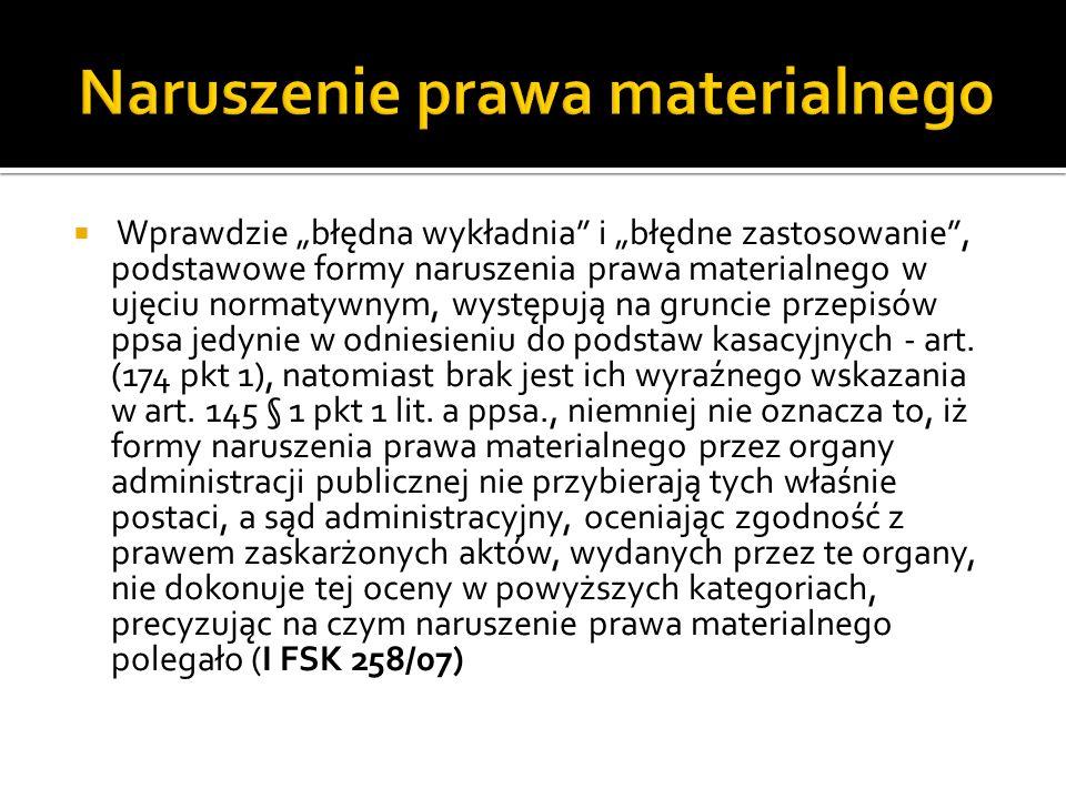 Nie jest wystarczające ogólnikowe przytoczenie w uzasadnieniu wyroku przepisów prawnych, poglądów prezentowanych w literaturze przedmiotu lub też cytowanie obszernych fragmentów znajdującego zastosowanie w sprawie orzecznictwa bez przeanalizowania wszelkich przesłanek uzasadniających te twierdzenia i poglądy w danej konkretnej sprawie (I FSK 779/07)