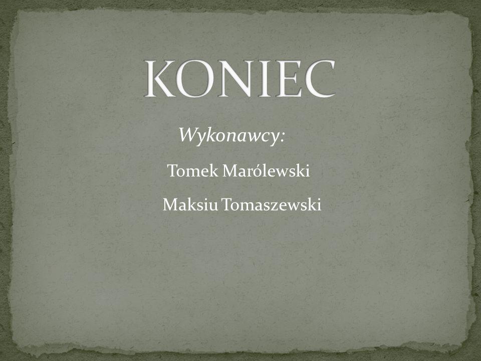 Wykonawcy: Tomek Marólewski Maksiu Tomaszewski