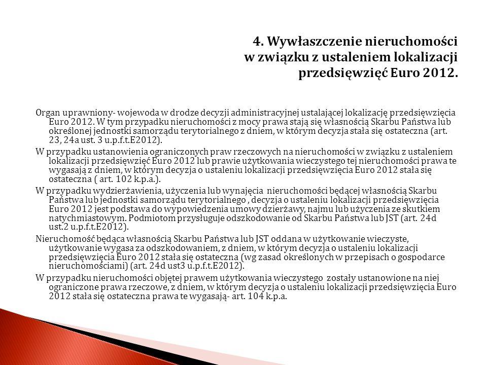 5.Wywłaszczenie nieruchomości położonych na obszarze Pomników Zagłady i ich sfer ochronnych.