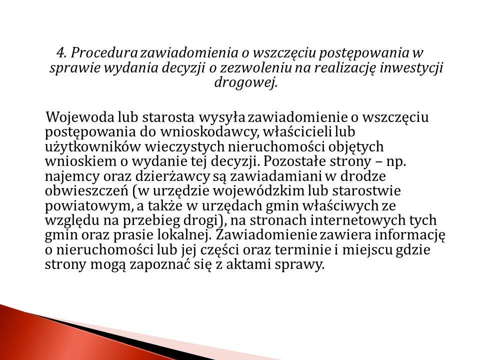 5.Decyzja o zezwoleniu na realizacje inwestycji drogowej.