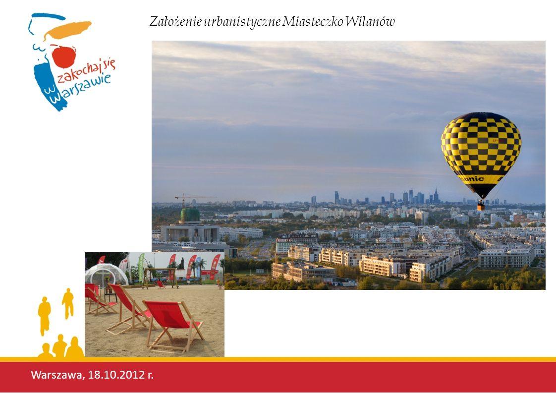 Warszawa, 18.10.2012 r. Założenie urbanistyczne Miasteczko Wilanów