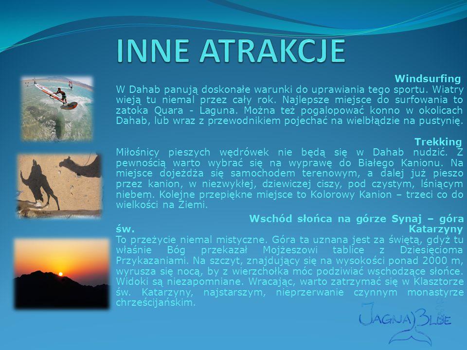 Windsurfing W Dahab panują doskonałe warunki do uprawiania tego sportu.