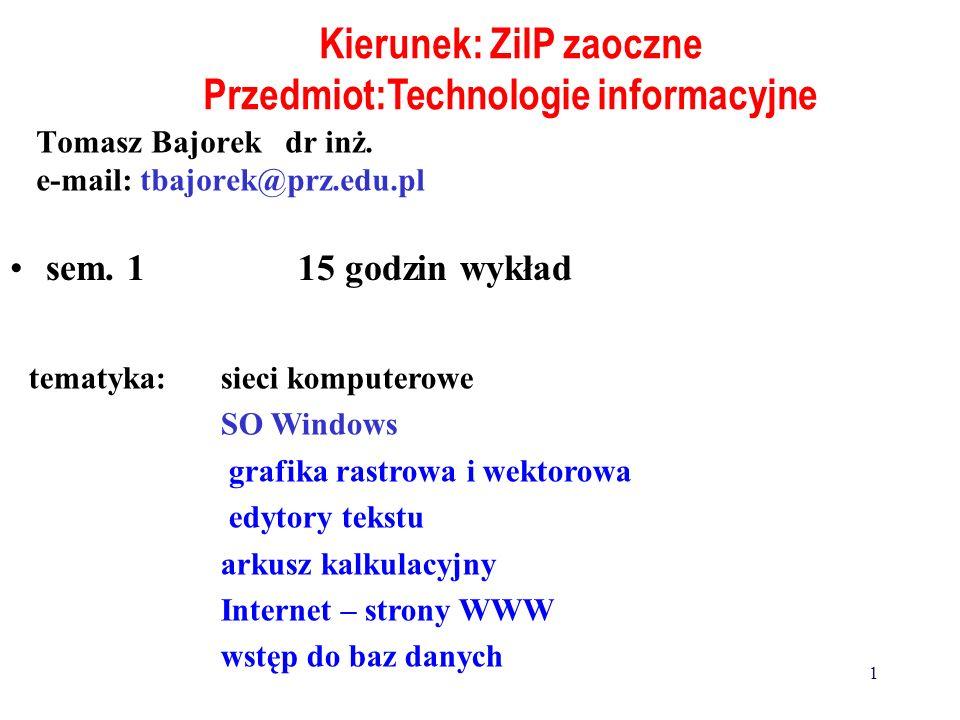 Komputer - elektroniczny automat cyfrowy Funkcje: - zapamiętywanie informacji - przetwarzanie informacji Automat uniwersalny (nie specjalistyczny) - wykonuje przetwarzanie różnego rodzaju informacji - gromadzi informacje różnego rodzaju 21