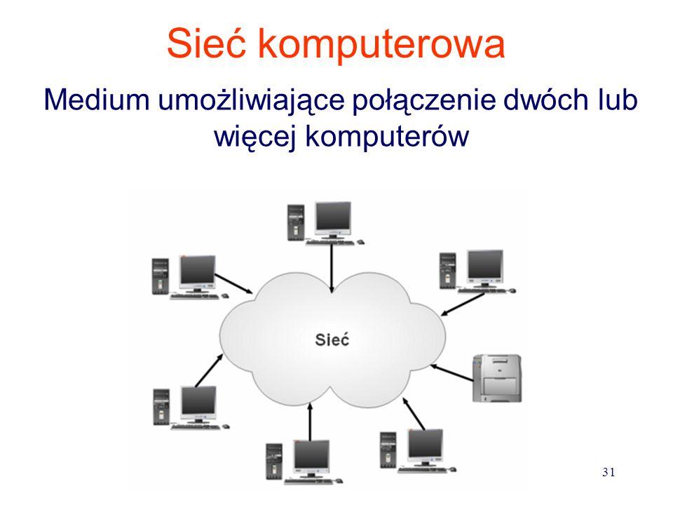 Sieci komputerowe 1.posiadają konfigurację (gwiazda, pierścień, inne) 2.węzły sieci są połączone (kable miedziane, światłowody, kanał radiowy, kanał s