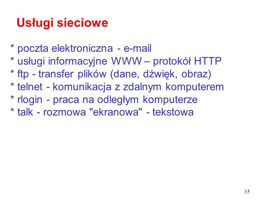 1990 rok - internet łączenie komputerów w lokalne sieci, dołączanie do innych sieci, rozbudowa sieci szkieletowych usługi sieciowe, bezpieczeństwo sie