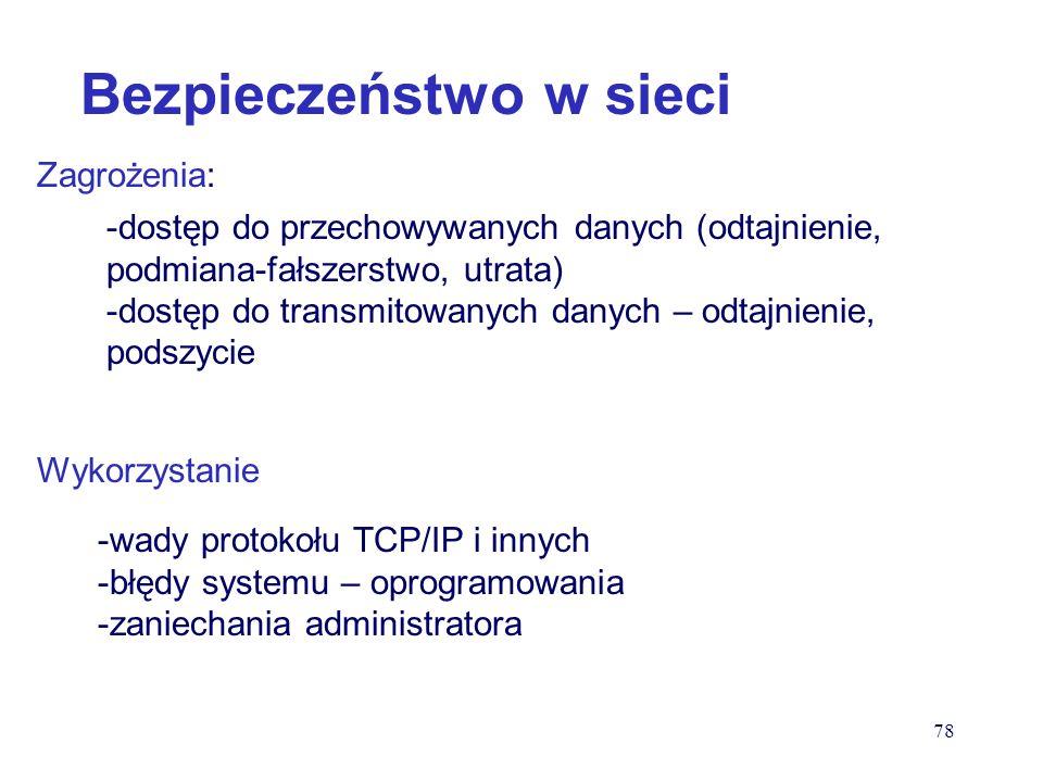 START… Uruchom: cmd c:/ipconfig 6 bajtów system 16-tkowy 4 bajty system dziesiętny 77