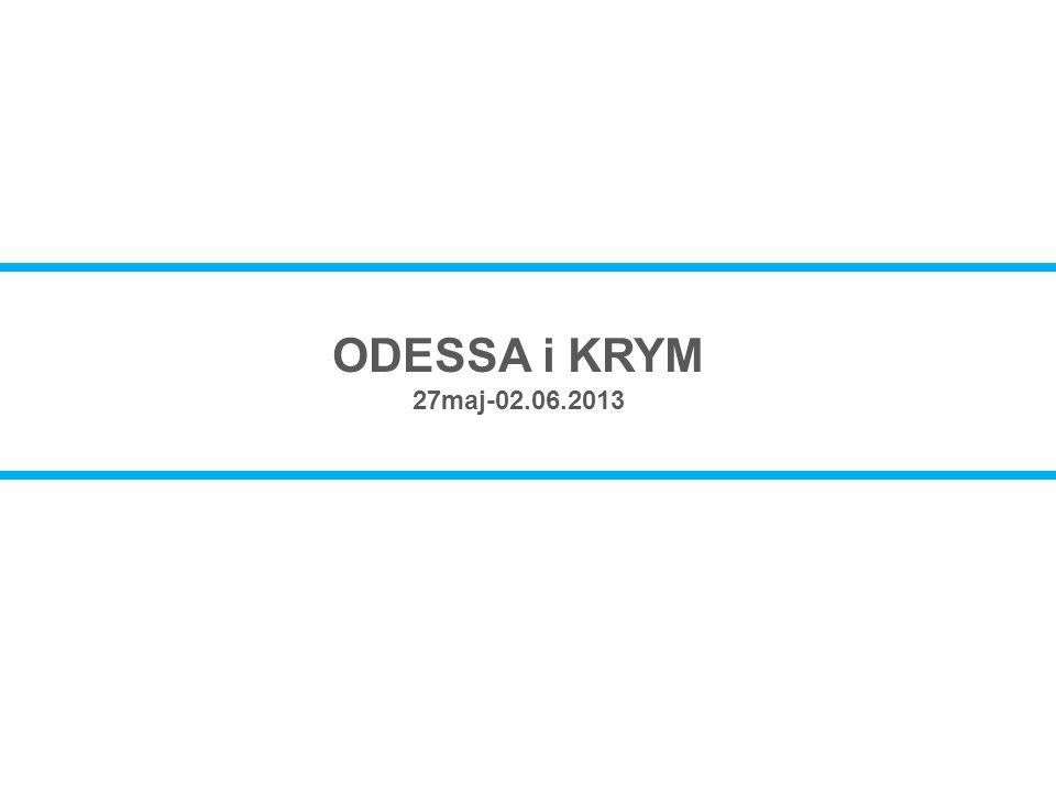 ODESSA i KRYM 27maj-02.06.2013