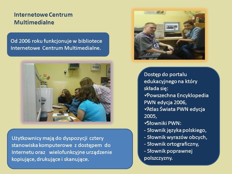 Internetowe Centrum Multimedialne Od 2006 roku funkcjonuje w bibliotece Internetowe Centrum Multimedialne.