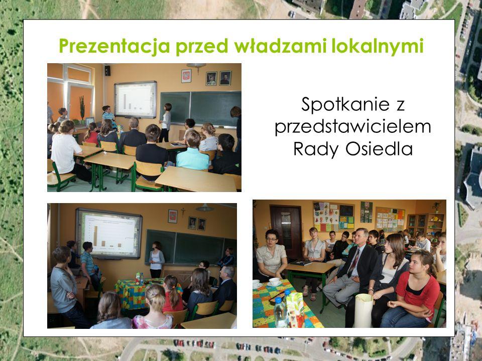 Prezentacja przed władzami lokalnymi Spotkanie z przedstawicielem Rady Osiedla