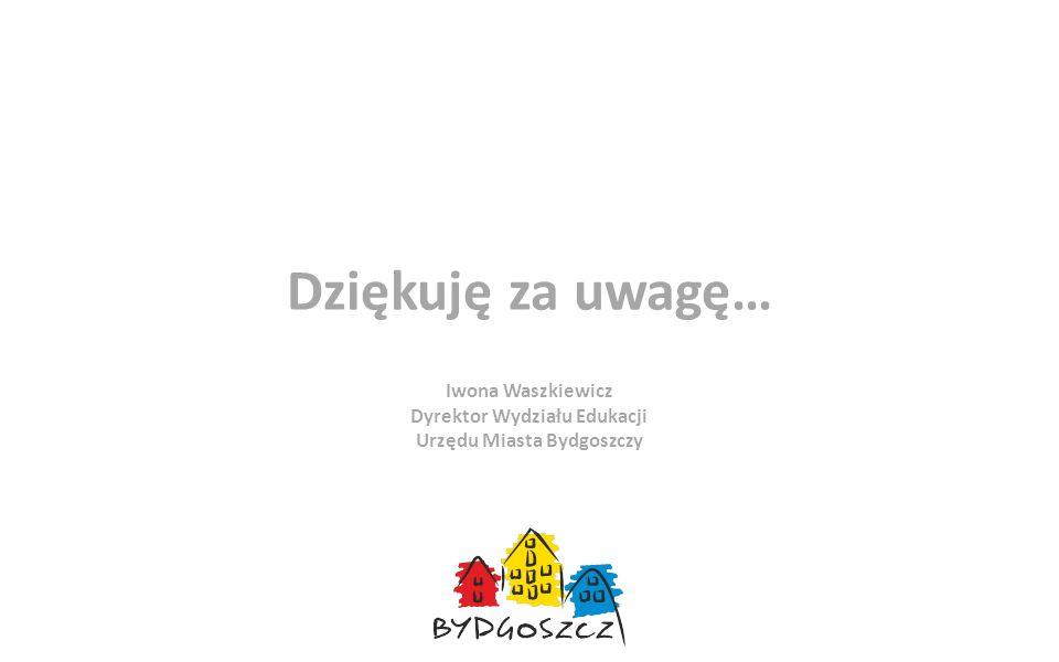 Dziękuję za uwagę… Iwona Waszkiewicz Dyrektor Wydziału Edukacji Urzędu Miasta Bydgoszczy