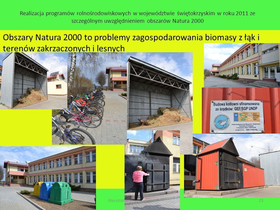 Realizacja programów rolnośrodowiskowych w województwie świętokrzyskim w roku 2011 ze szczególnym uwzględnieniem obszarów Natura 2000 Obszary Natura 2