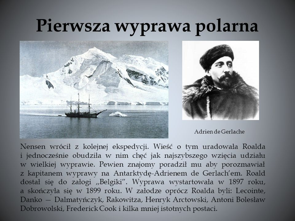 Załoga wyprawy na biegun południowy Początkowo załoga Frama składała się z wielu marynarzy, lecz gdy wyszedł na jaw prawdziwy cel wyprawy, tylko niewielu stanęło u boku Amundsena.