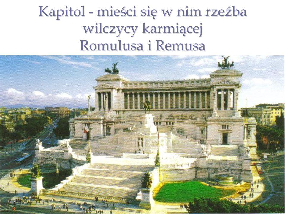 POŁOŻENIE Rzym jest położony na terenie pagórkowatym, z tego względu zyskał miano miasta na siedmiu wzgórzach.