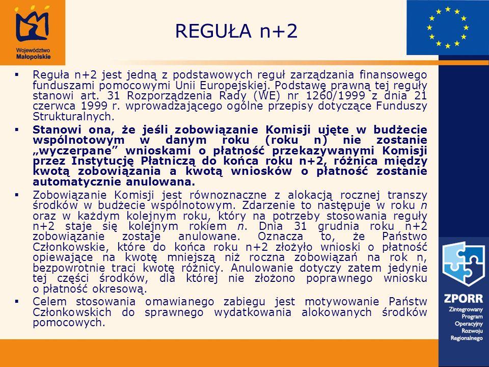 Reguła n+2 jest jedną z podstawowych reguł zarządzania finansowego funduszami pomocowymi Unii Europejskiej.